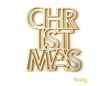 Christmas - scritta outline