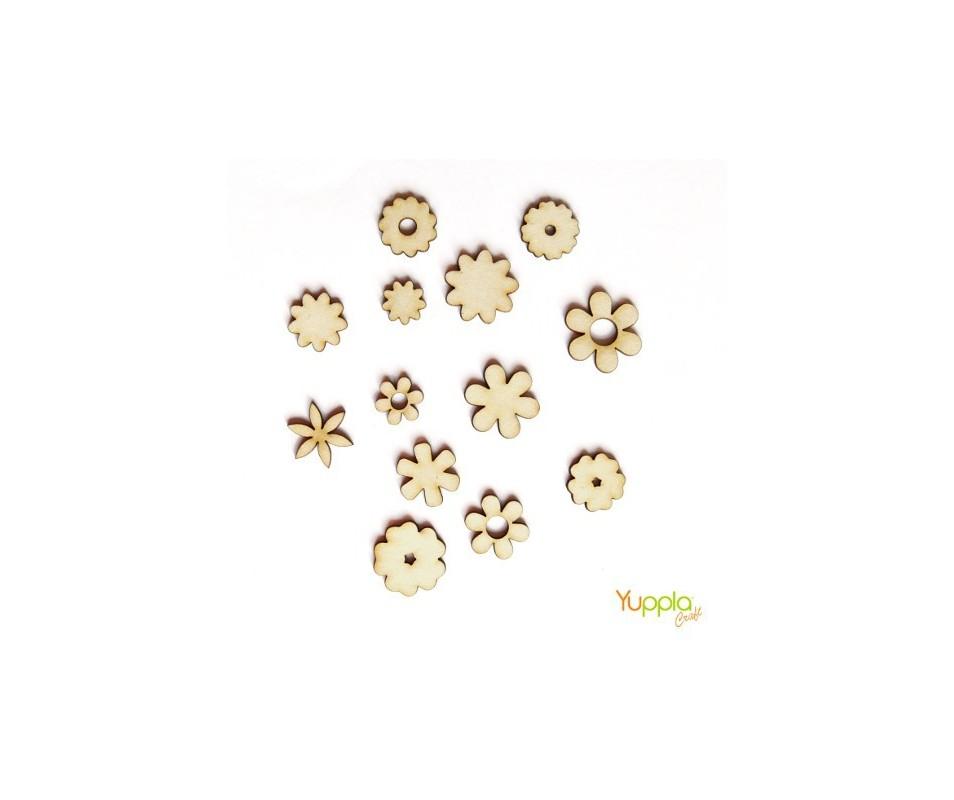 Set fiori in cartonlegno