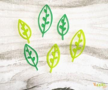 Foglie tropical - lime e verde sat.