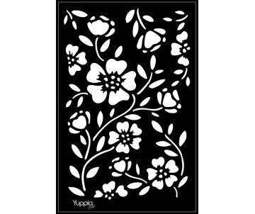 BLACK Stencil - Flora