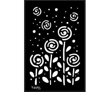 BLACK Stencil - Prato fiorito