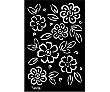 BLACK Stencil - Mare di fiori