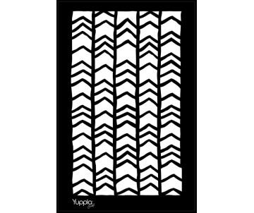 BLACK Stencil - Chevron